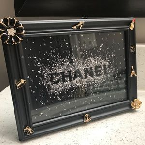 CC Chanel Photo In Bejeweled Frame